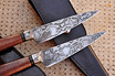 Motorcycle Chain San Mai Damascus Knives