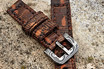Lizzard Strap and Stainless Damascus Watch Buckle