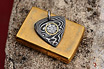Stainless Damascus Guitar Pick Pendant