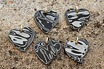 Stainless Damascus Heart Pendants